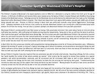 Customer Spotlight - Westmead Children's Hospital